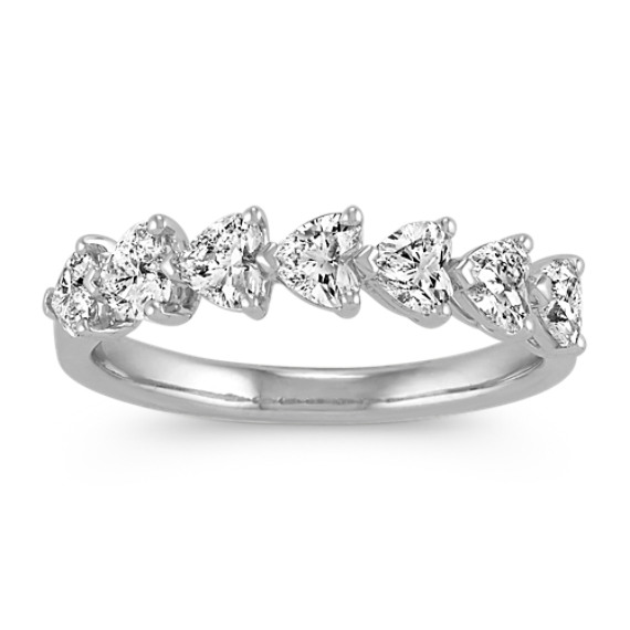 Heart-Shaped Diamond Wedding Band
