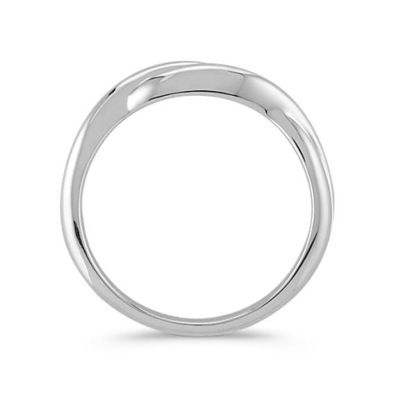 Infinity 14k White Gold Wedding Band image