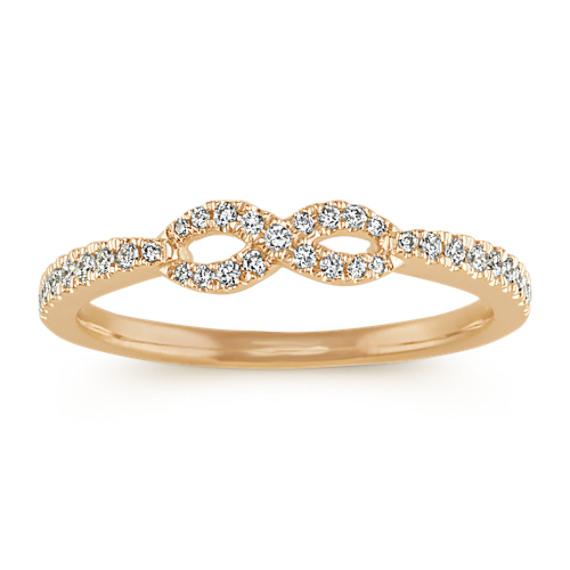 Infinity Diamond Ring in 14k Yellow Gold