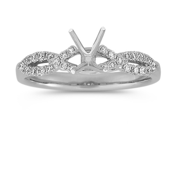 Infinity Round Diamond Engagement Ring
