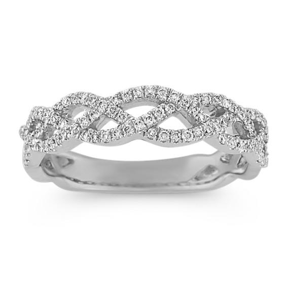 Infinity Round Diamond Wedding Band