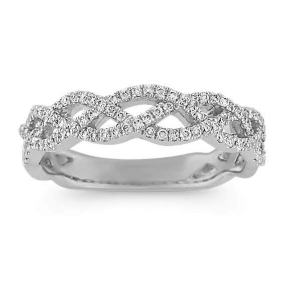 Infinity Round Diamond Wedding Band