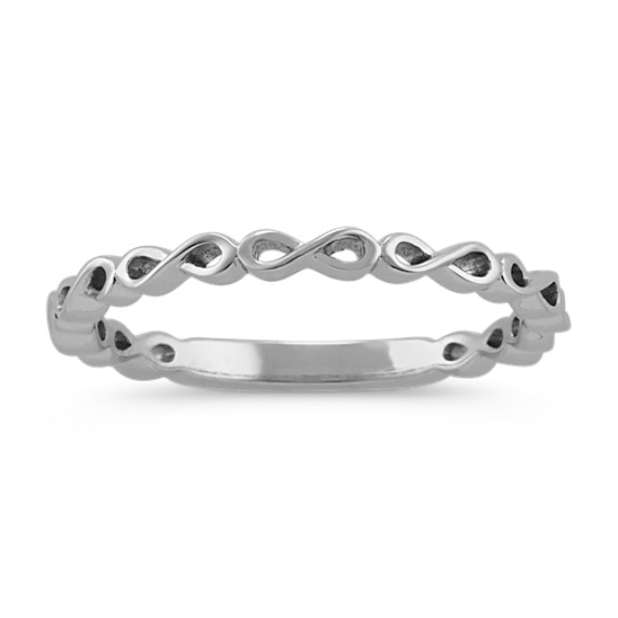 Infinity Stackable Ring in 14k White Gold