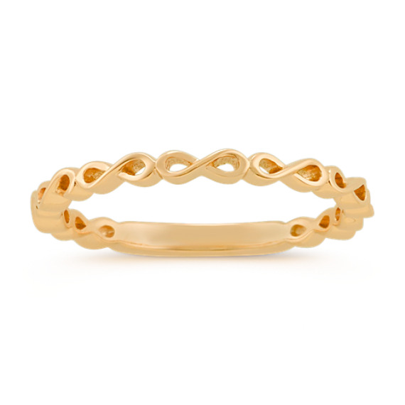 Infinity Stackable Ring in 14k Yellow Gold