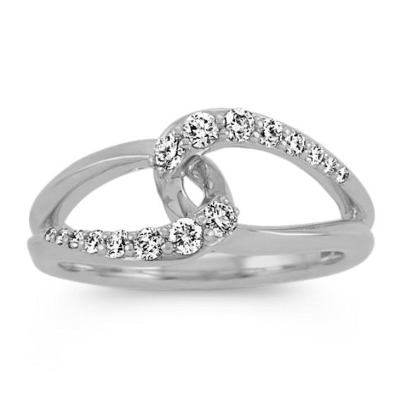 Infinity Diamond Ring in 14k White Gold