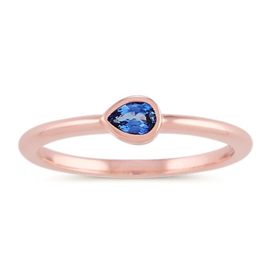 Kentucky Blue Sapphire Ring in 14k Rose Gold