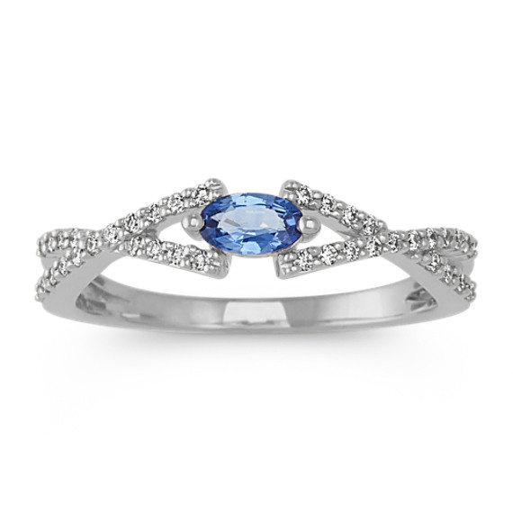 Kentucky Blue Sapphire and Diamond Ring
