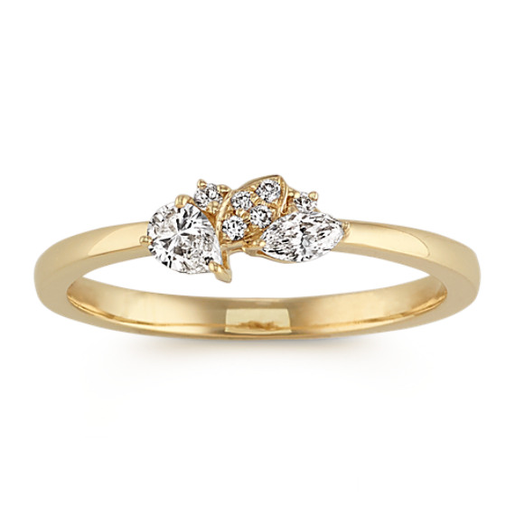 Marquise, Round and Pear-Shaped Diamond Ring
