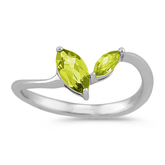 Marquise Peridot Ring in Sterling Silver