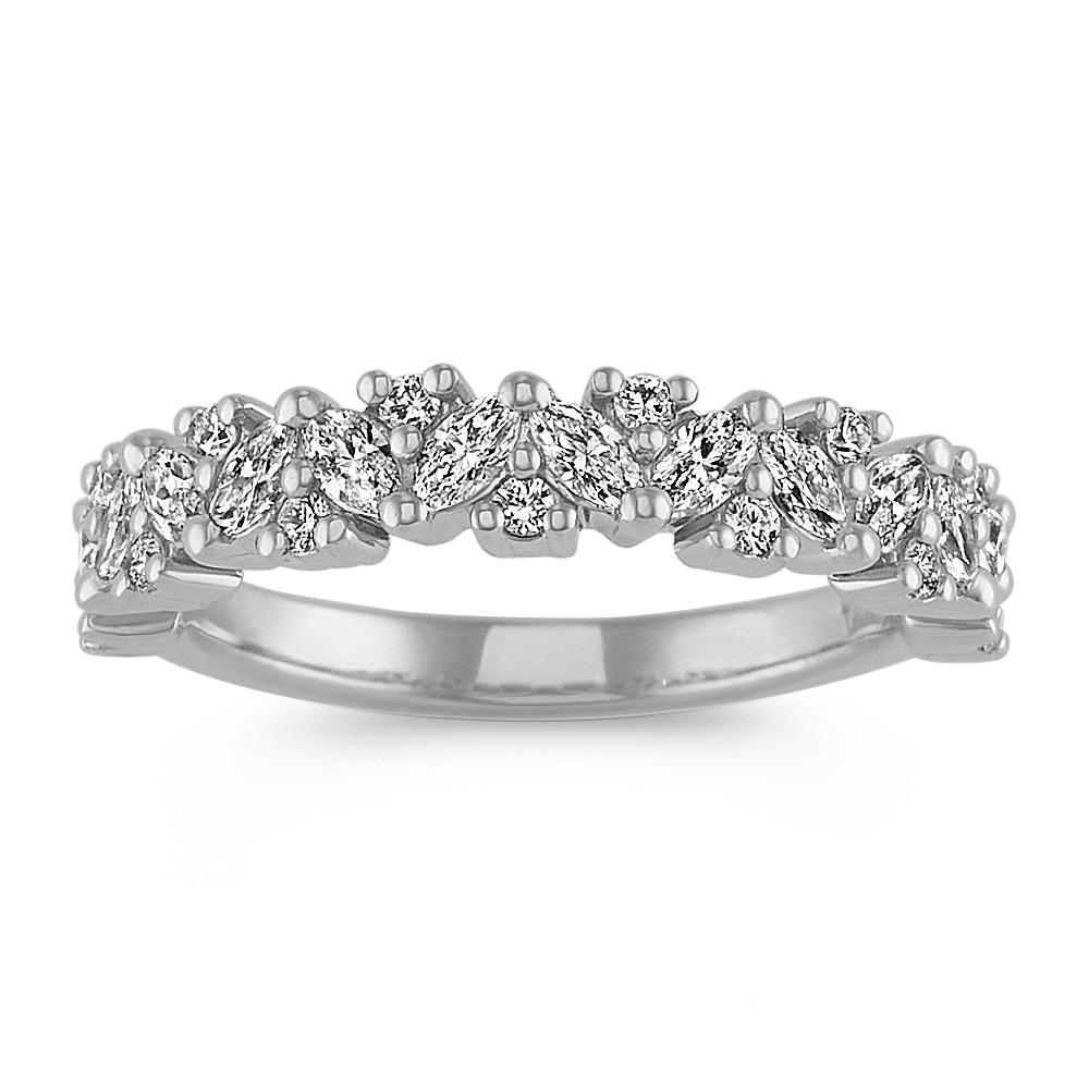 cdda637bec22a Marquise and Round Diamond Wedding Band