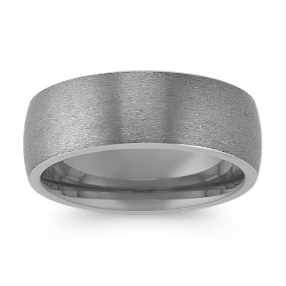 Max-T Brush Textured Titanium Comfort Fit Ring (8mm)