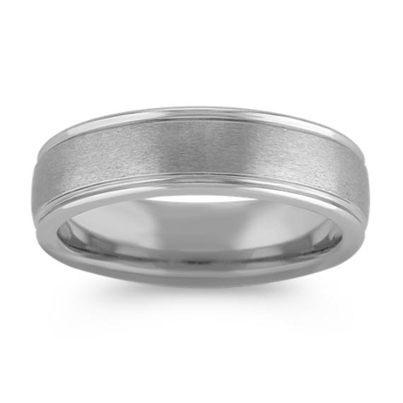 Max-T Brushed Titanium Comfort Fit Ring (6.5mm)