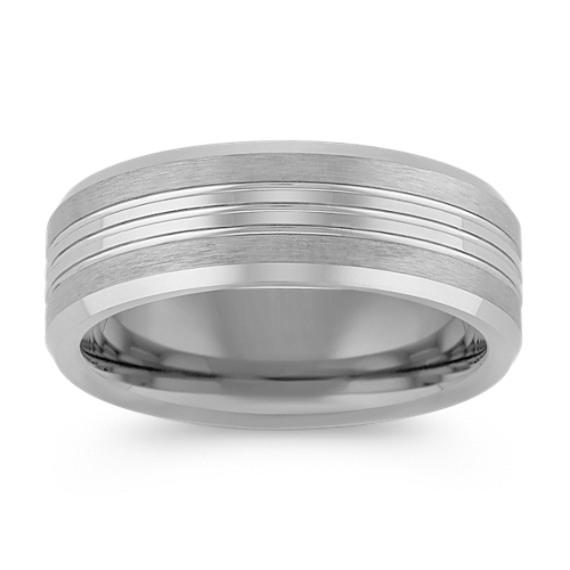 Max-T Engraved Titanium Comfort Fit Ring (7.5mm)
