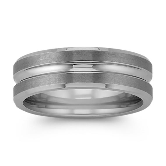 Max-T Engraved Titanium Comfort Fit Ring (7mm)