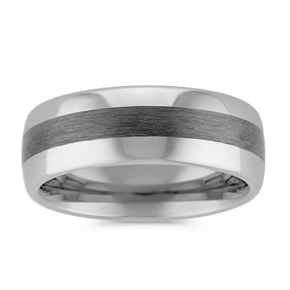 Max-T Titanium Comfort Fit Ring with Brushed and Polished Finish (8mm)
