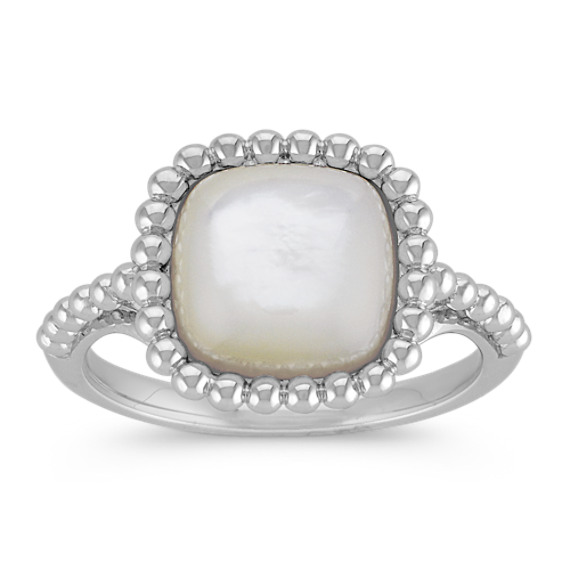 Mother of Pearl Ring in Sterling Silver