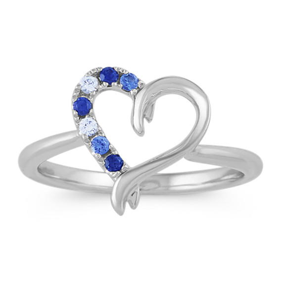 Multi-Colored Sapphire Ring in Sterling Silver