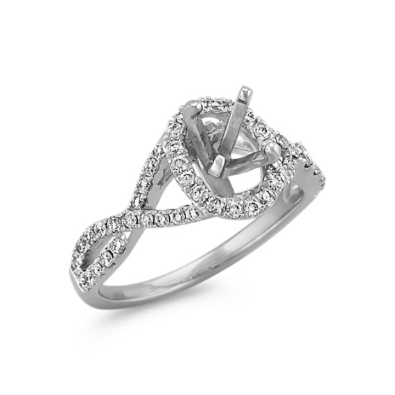 Oval halo infinity engagement ring with round diamonds shane co tap to zoom thumbnail junglespirit Choice Image