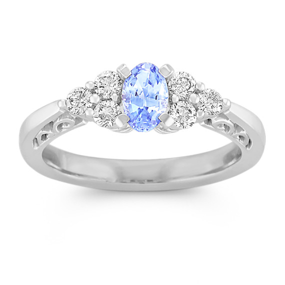 blue diamond ice ring rings engagement sapphire usa