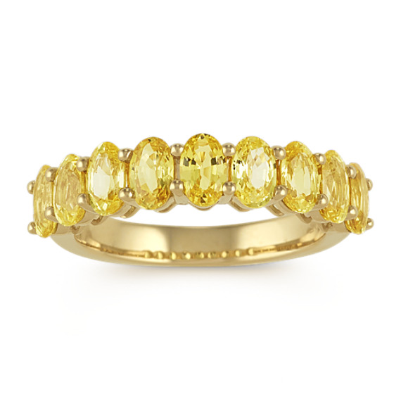Oval Yellow Sapphire Ring in 14k Yellow Gold