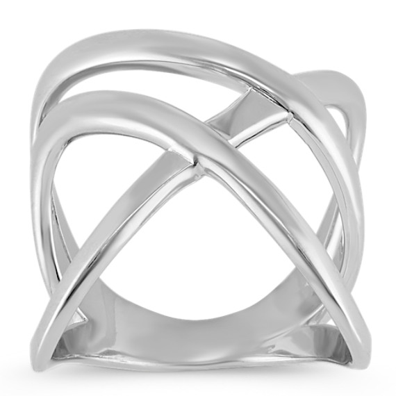 Overlapping Fashion Ring in Sterling Silver