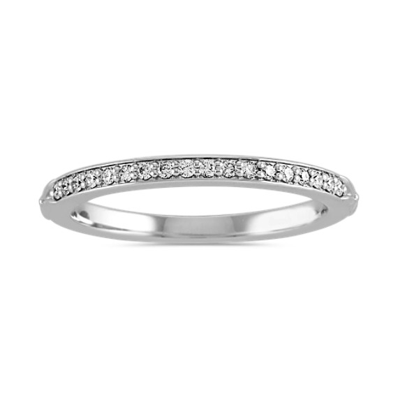 Pave-Set Diamond Band in 14k White Gold