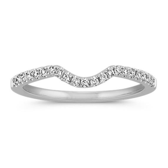 Pave Set Diamond Contour Wedding Band