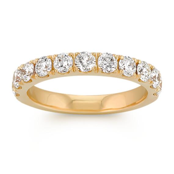 Pave-Set Diamond Wedding Band in 14k Yellow Gold