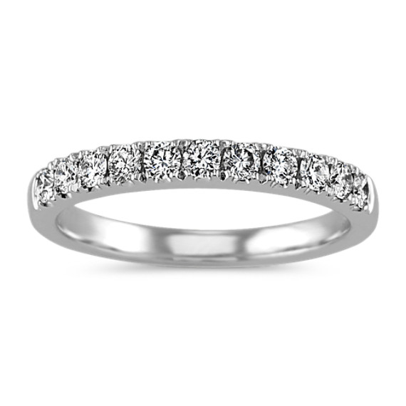 Pave-Set Diamond Wedding Band in Platinum