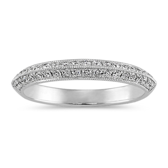 Pave-Set Diamond Wedding Band in Platinum