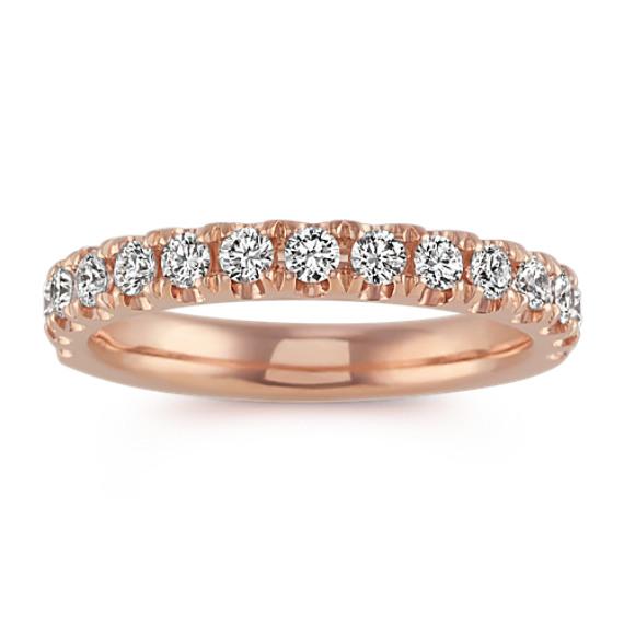 Pavé-Set Diamond Wedding Band