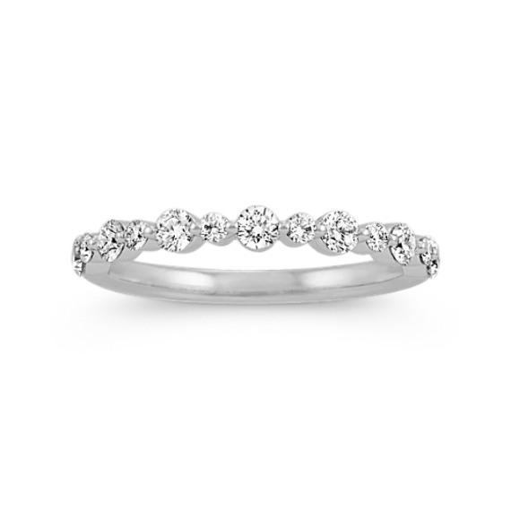 Pave-Set Diamond Wedding Band