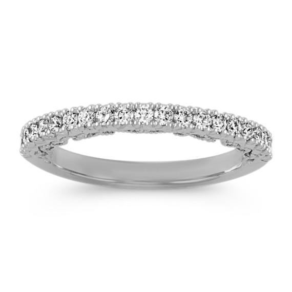 Pave-Set Round Diamond Ring