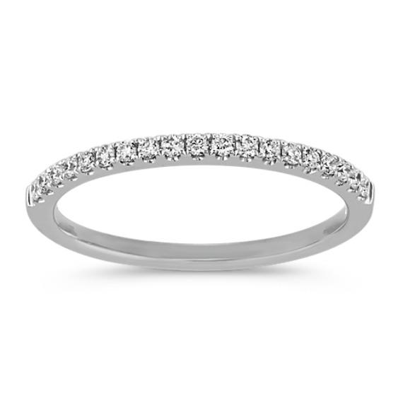 Pave-Set Round Diamond Wedding Band in Platinum
