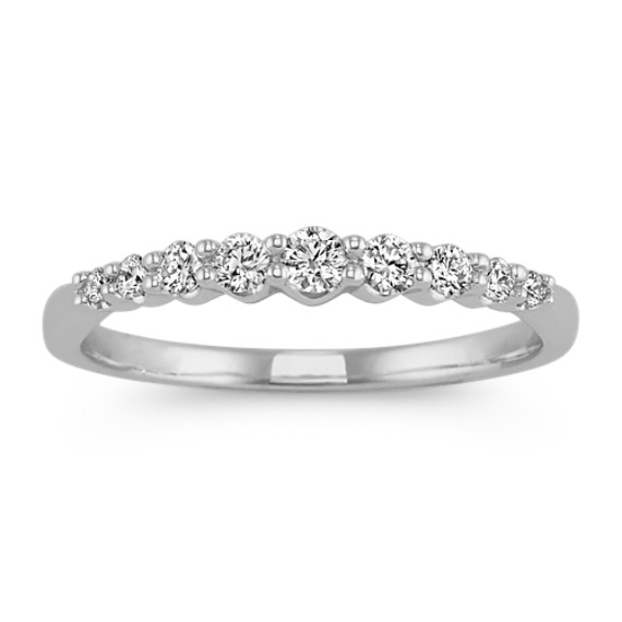 Pave-Set Round Diamond Wedding Band