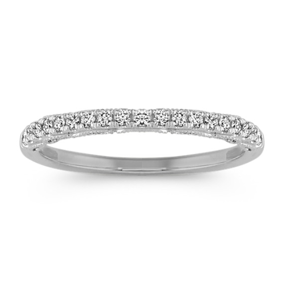 Pave-Set Vintage Diamond Wedding Band