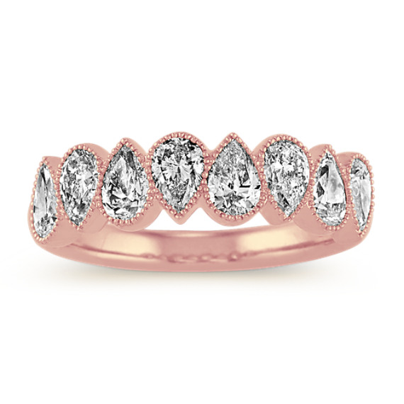 Pear-Shaped Diamond Ring in 14k Rose Gold