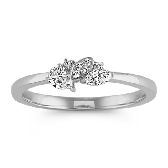 fed7fdf1c24c3 Pear-Shaped, Marquise & Round Diamond Cluster Ring