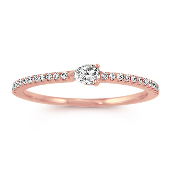 Pear-Shaped & Round Diamond Stackable Ring