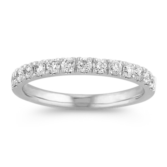 Platinum Classic Diamond Wedding Band
