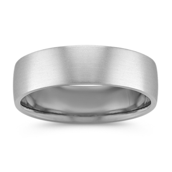 Platinum Comfort Fit Band with Matte Finish (6.5mm)
