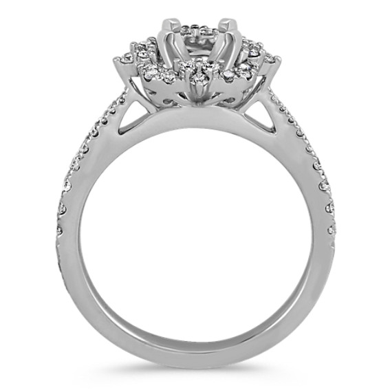 Platinum Halo Diamond Engagement Ring image