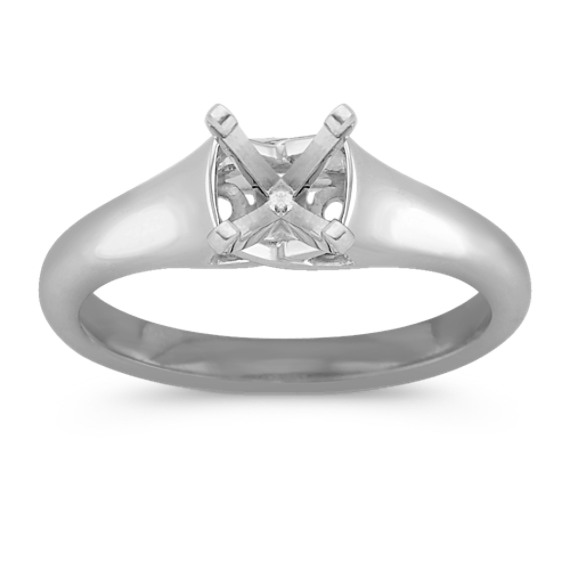 Platinum Solitaire Cathedral Engagement Ring