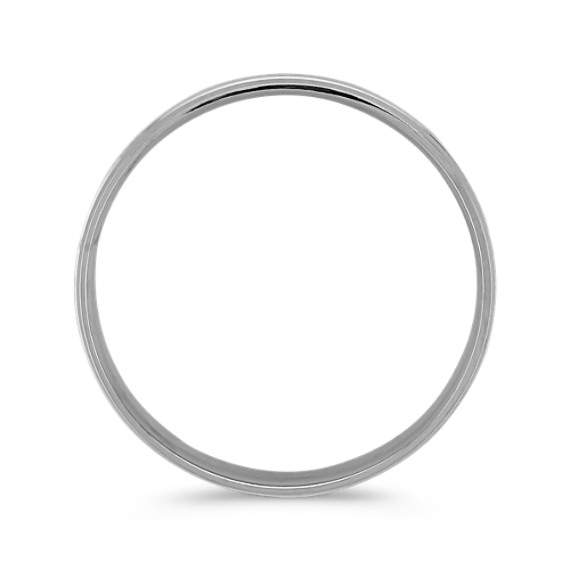 Platinum Textured Comfort Fit Ring (6mm) image