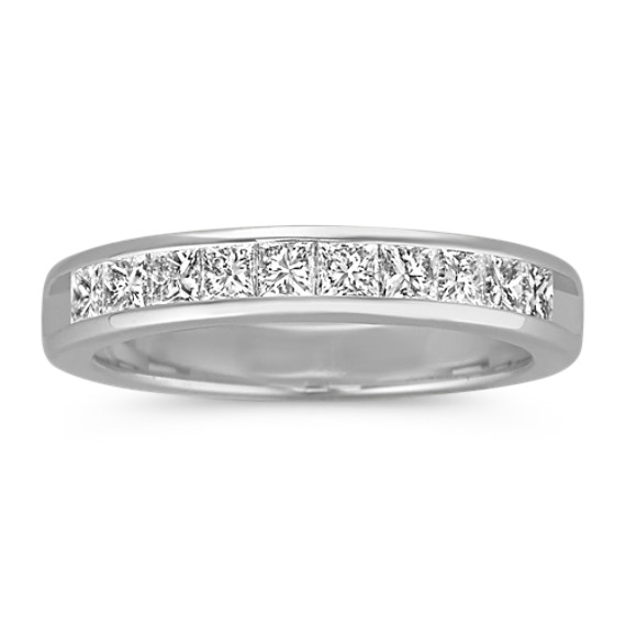 Princess Cut Diamond Channel-Set Wedding Band