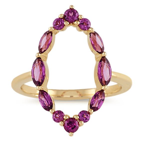 Purple Rhodolite Garnet Ring