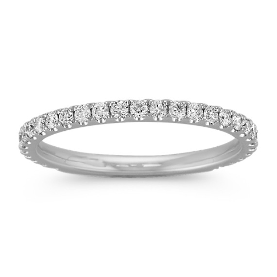 Round Diamond Band with Pave-Setting