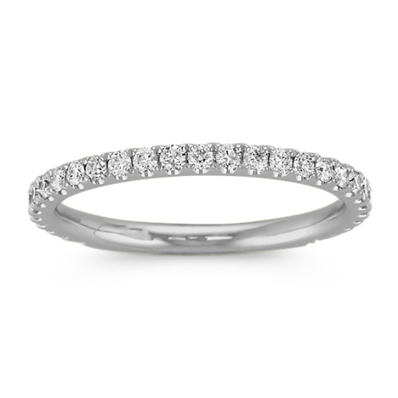 Round Diamond Band with Pave-Setting in Platinum