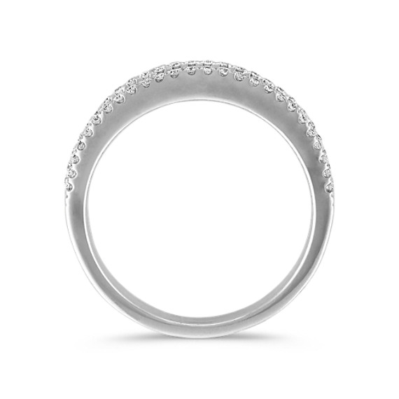 Round Diamond Channel-Set Wedding Band in 14k White Gold image