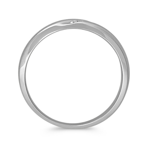 Round Diamond Contemporary Band with Brushed Finish (6mm) image